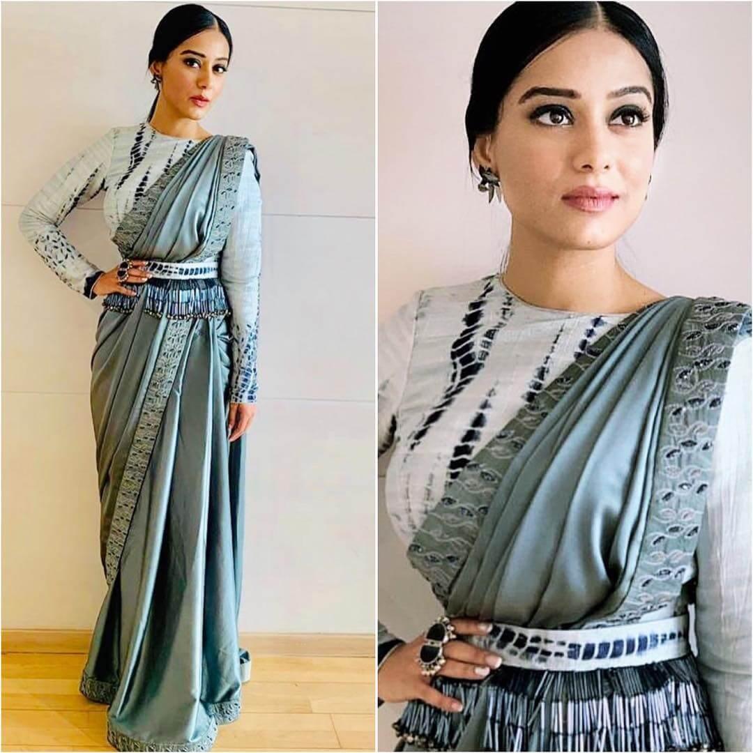 Bandhani print blouse