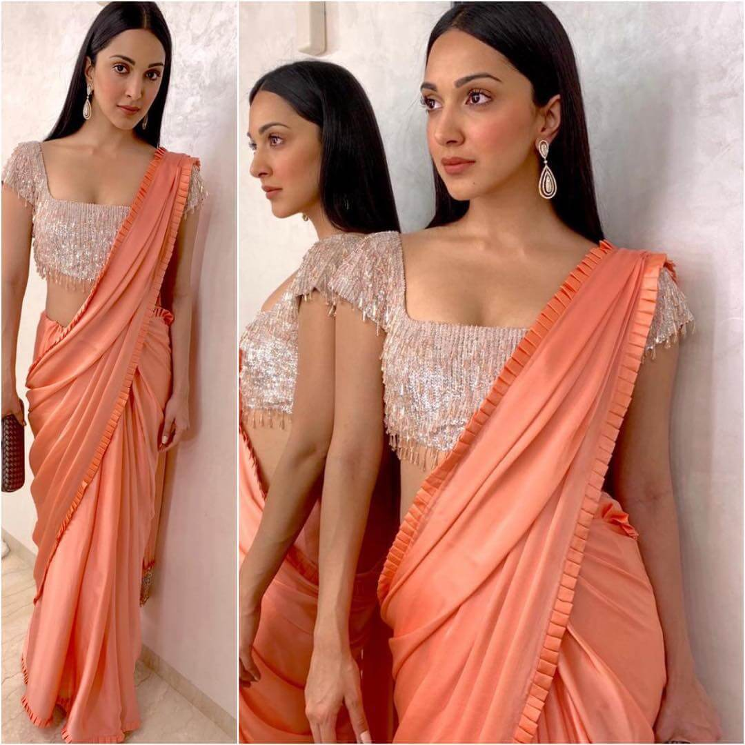 Plain Sarees with Designer Blouse Designs - Best from Bollywood - K4 Fashion