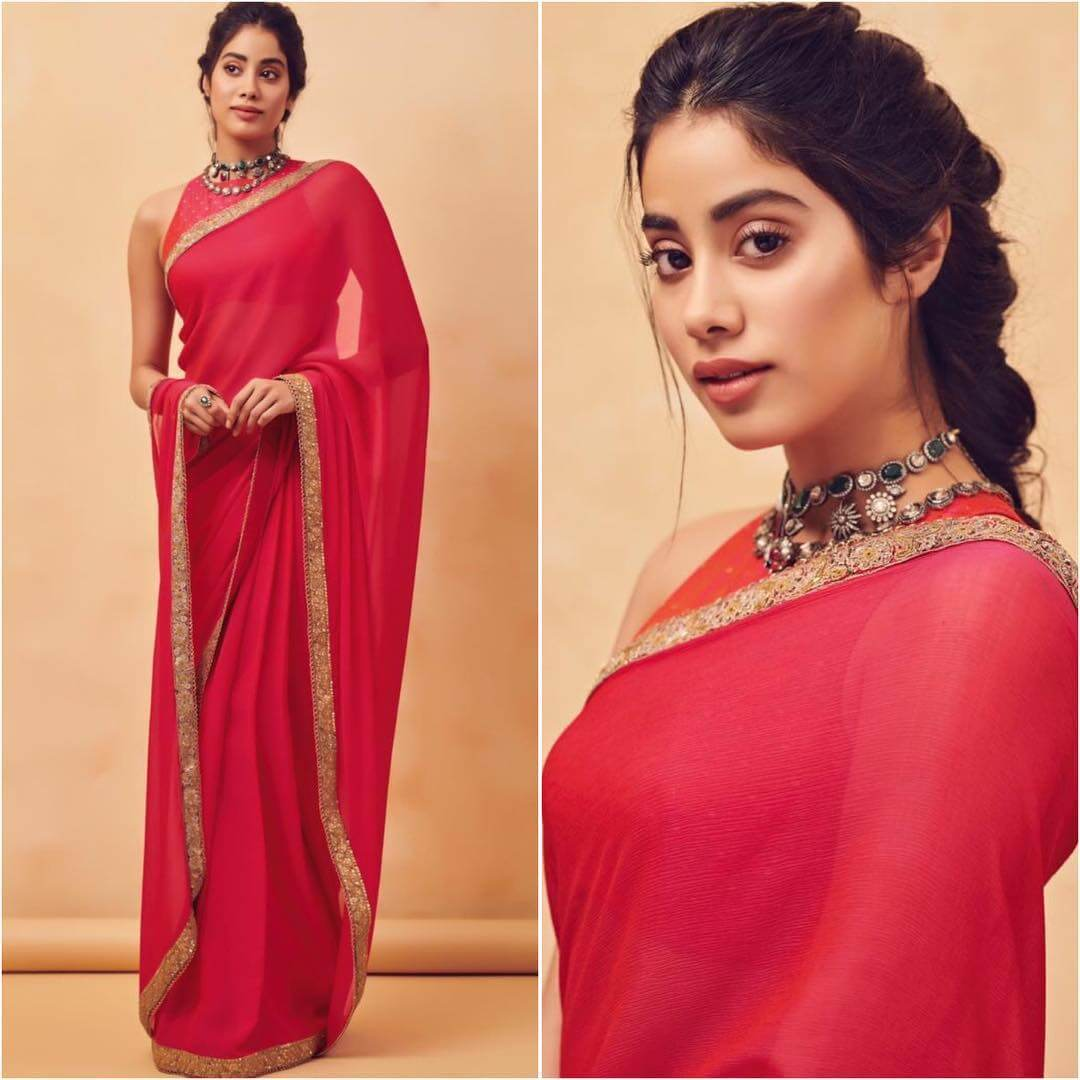 High neck sleeveless blouse Plain Sarees with Designer Blouse Designs - Best from Bollywood