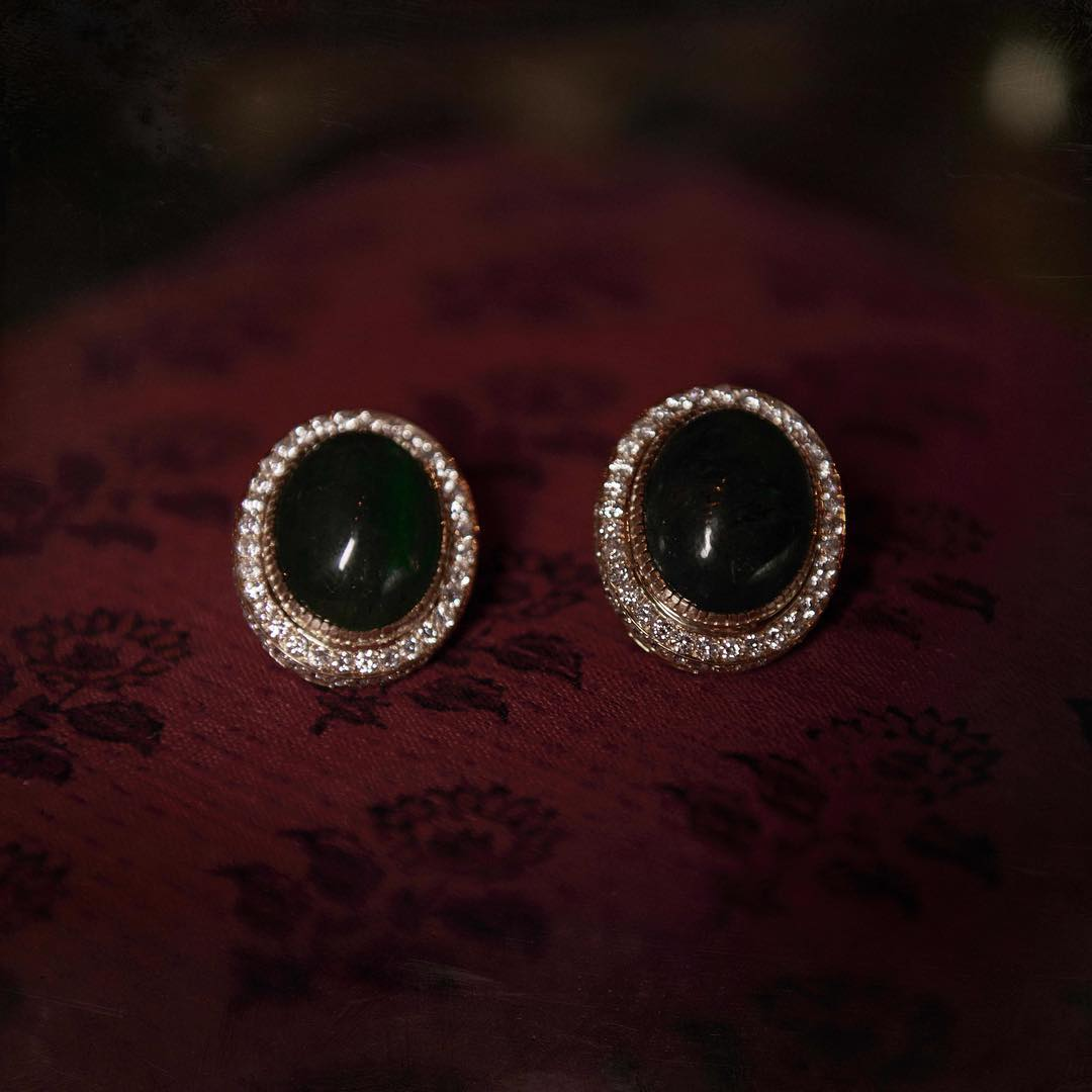 Bold black earring Sabyasachi Stud Earring Designs
