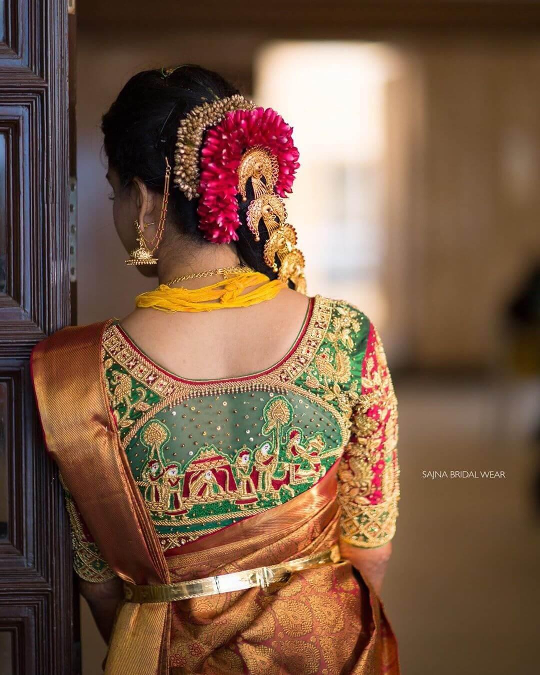 Doli Cutwork blouse for Silk Saree