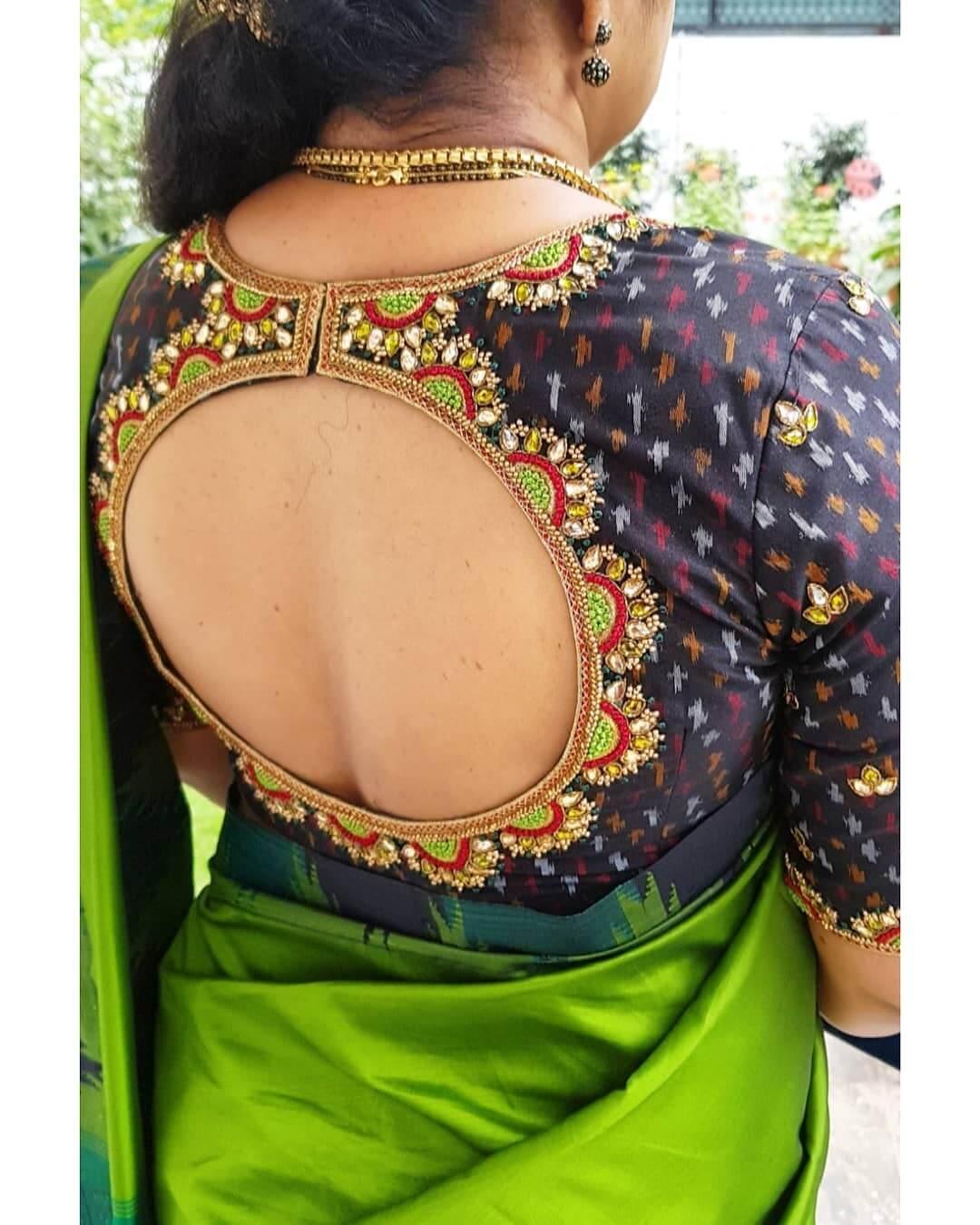 Silk Saree Blouse Back Neck Designs For South Indian Bride K4 Fashion
