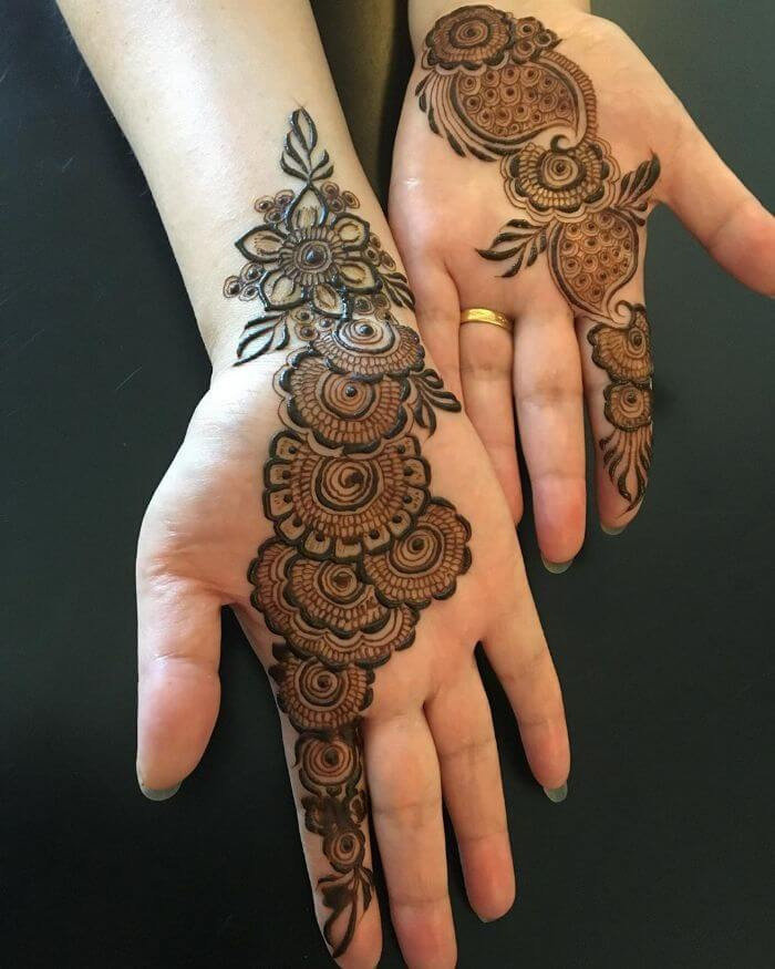 Simple Arabic Mehndi Designs For Front Hand K4 Fashion,Dubai Design District