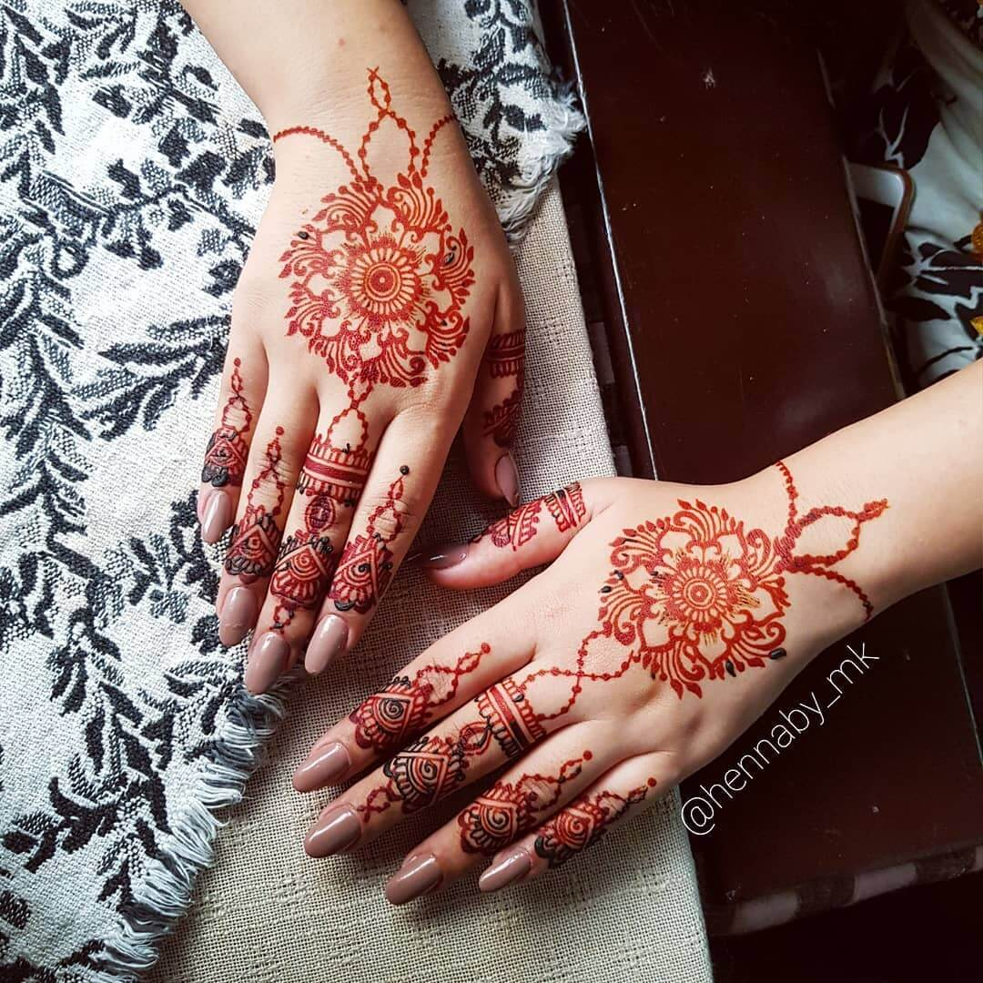 Mehndi in spring Unique Mehndi Design for Bride and Bridesmaids