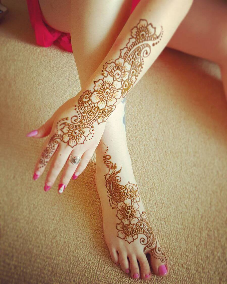 Traditional Arabic Mehndi Designs for Legs download