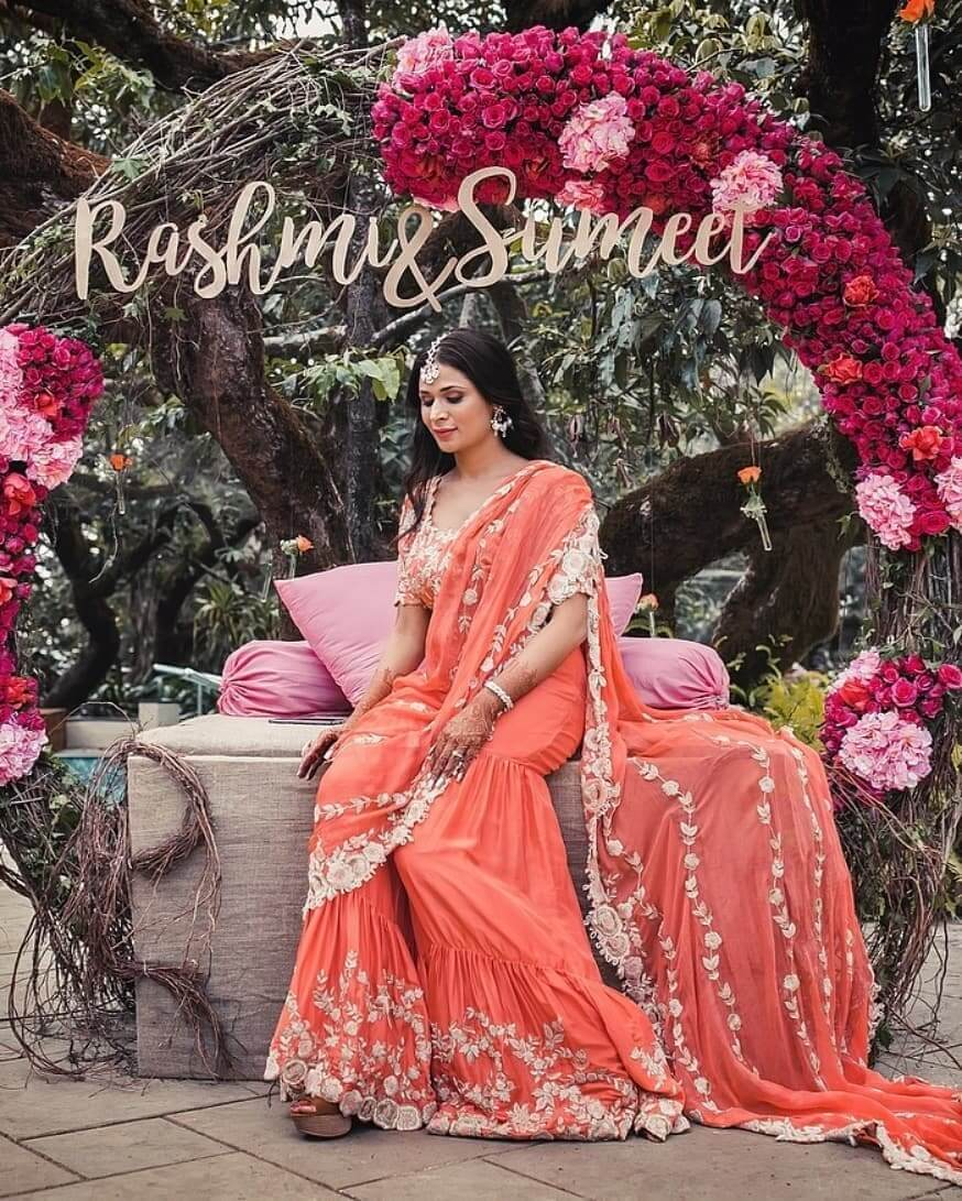Latest Orange Sharara Styles That You Need for Your Wedding Functions