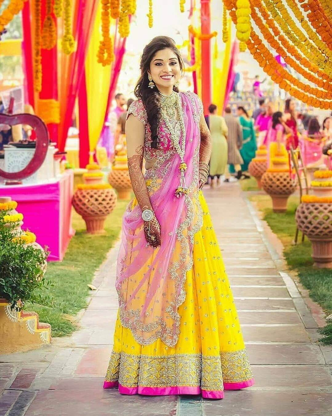 yellow lehenga for mehendi looks we spotted on real brides