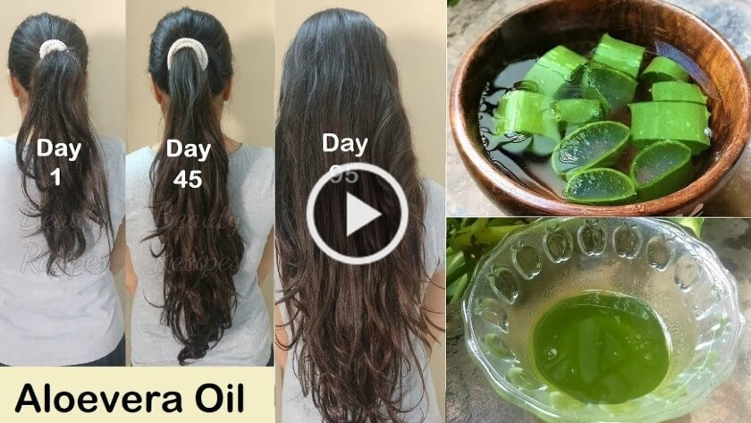 Homemade Aloevera Hair Oil for Double Hair Growth – No Hair Fall