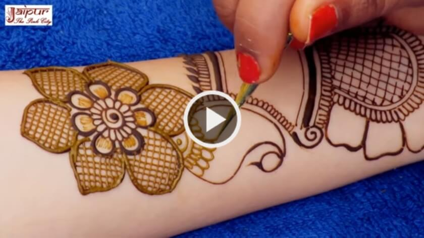 Eid Special Easy Floral Mehndi Design for Hand