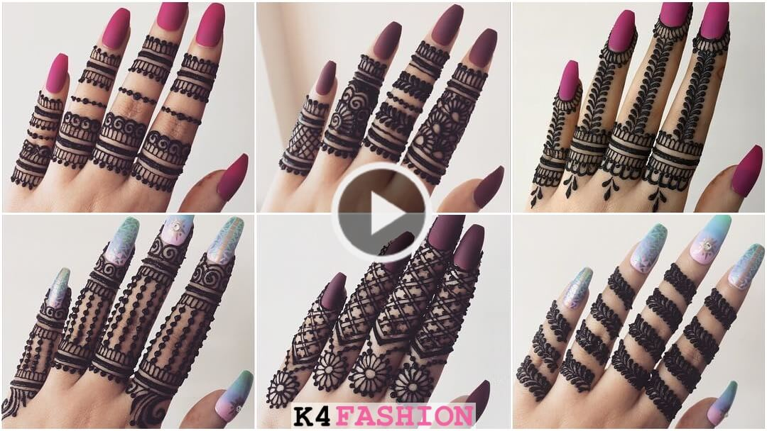 Finger Mehndi Design Tutorial for Eid & Wedding