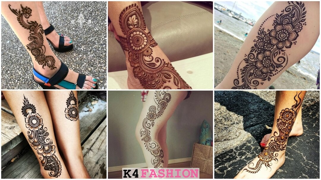 henna mehndi tattoo designs for foot