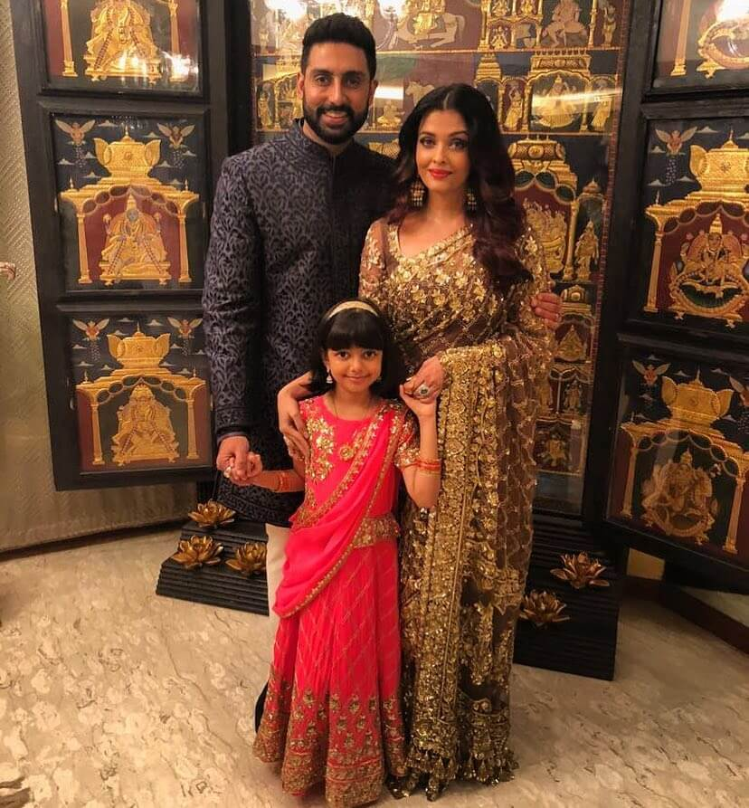 Gold And Brown Saree - Wedding Guest Dresses from Aishwarya's Wardrobe
