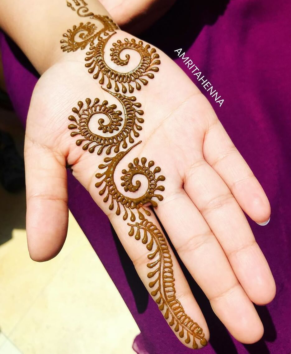simple mehandi designs for kids front hand