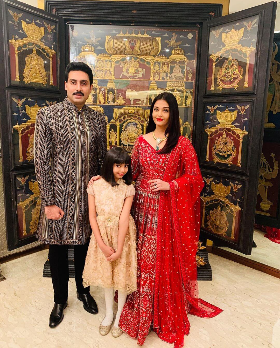 Red Anarkali Suit - Wedding Guest Dresses from Aishwarya's Wardrobe