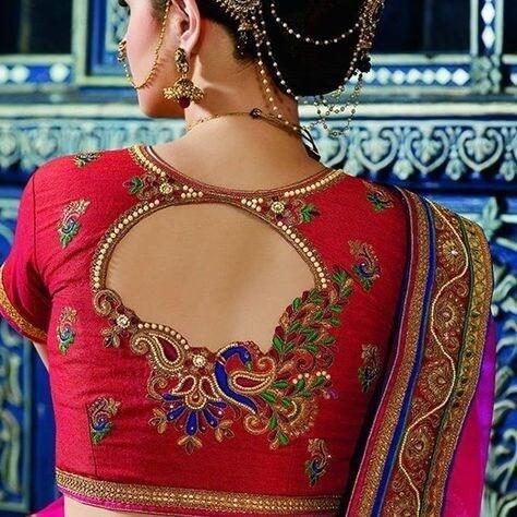 Designer Peacock Cut Pattern Blouse