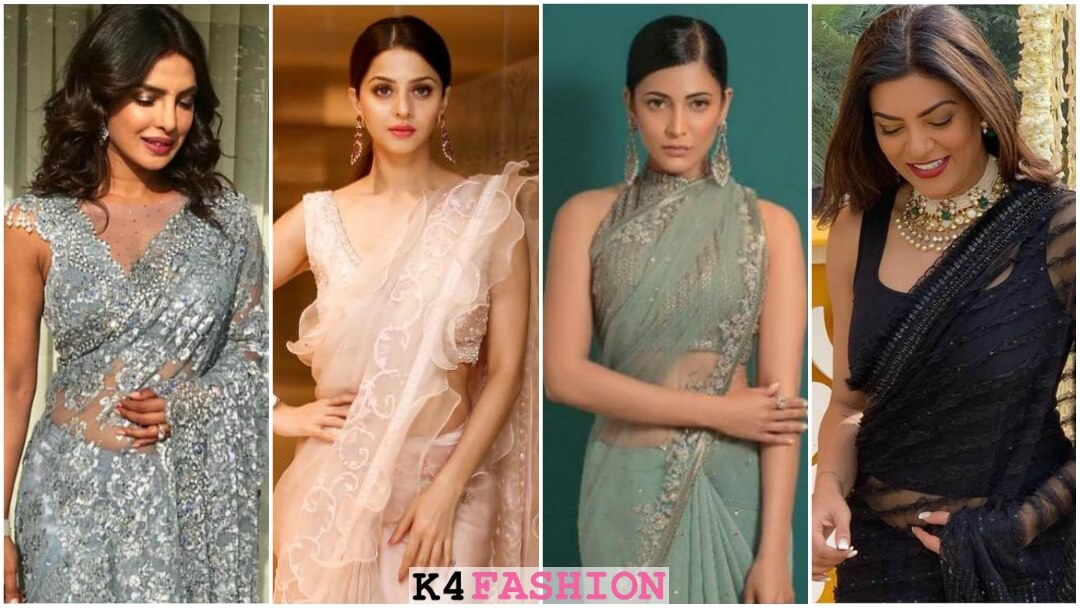 Trendy Latest Net Blouse Designs For Sarees