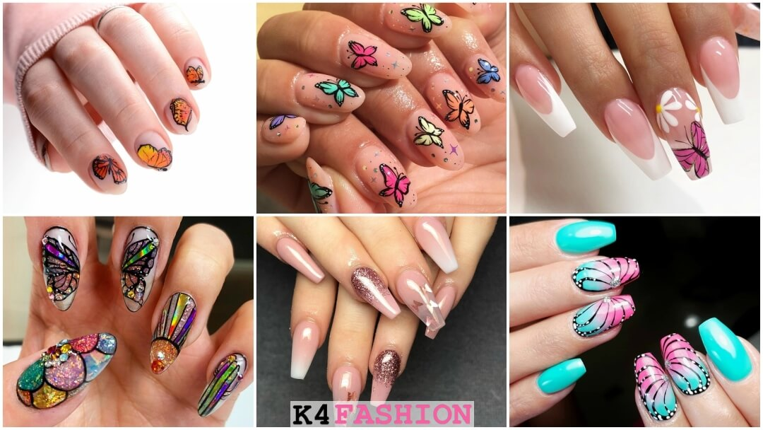 Beautiful Butterfly Nail Art Designs