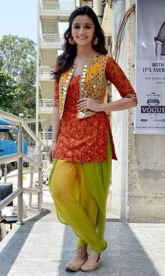 Indian party dress- Patiala kurti salwar suit for short height girls and ladies.