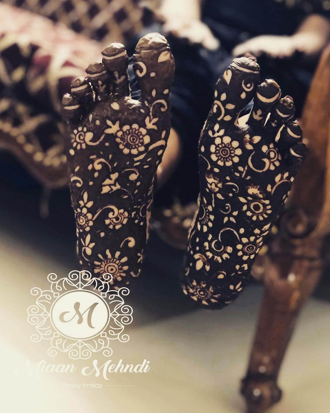Bridal Sole Henna Design for foot