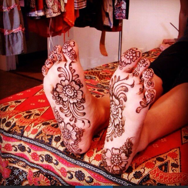 Floral Paradise Mehndi Design For Foot