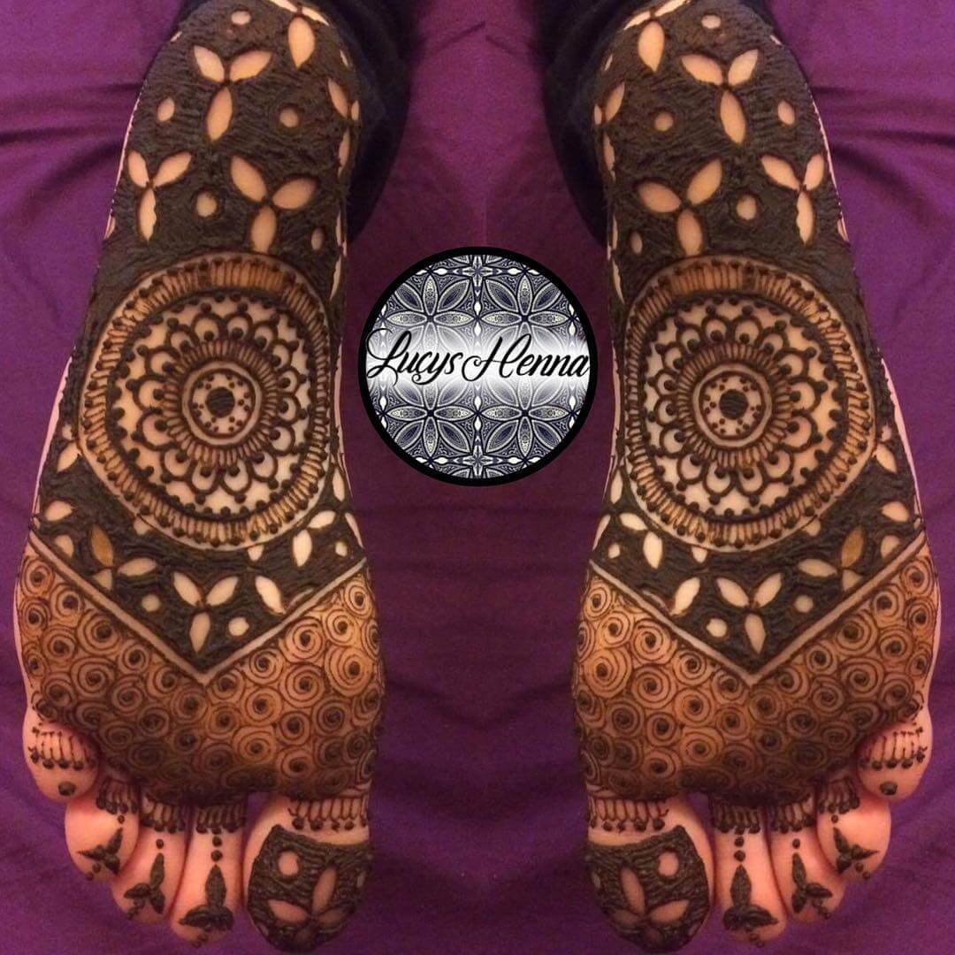 Mandala Design For Sole Henna Design