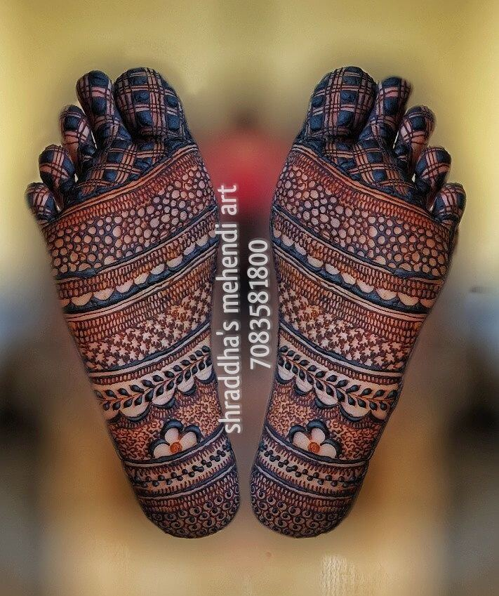 Bangle Style Sole Henna design