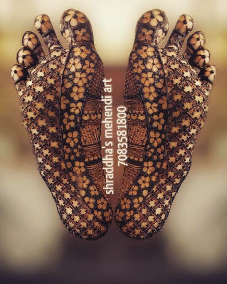 Creative Henna For Sole Of The Foot