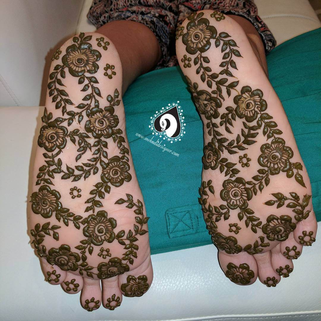 Garden Under My Feet Mehndi Design