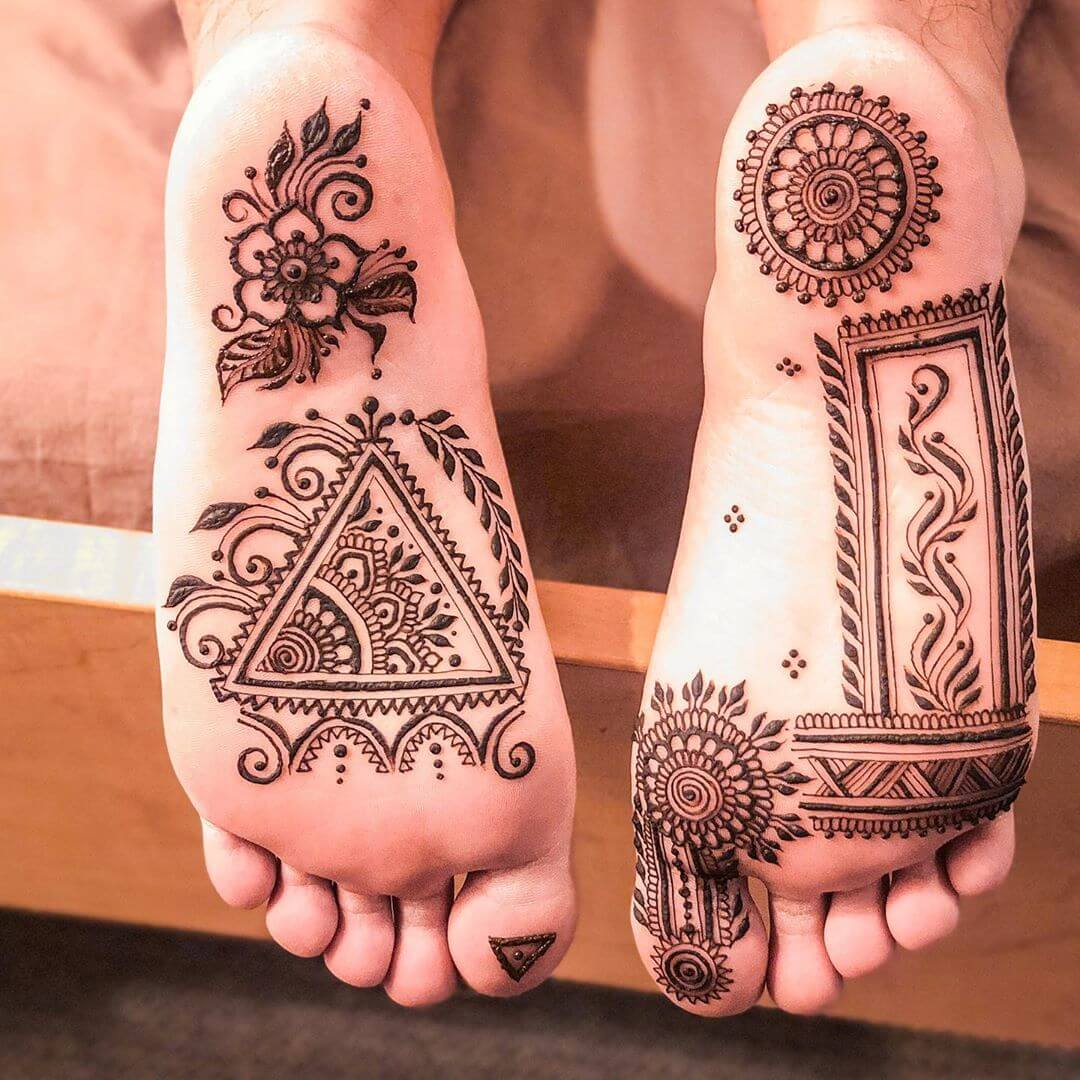 Geometric Pattern For Sole Henna