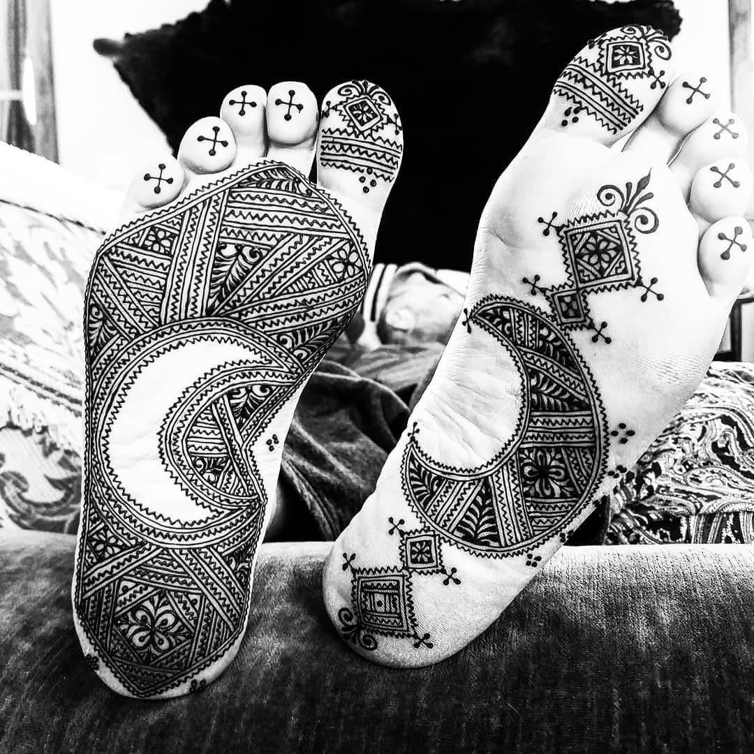 Moroccan Mehndi Design For Sole