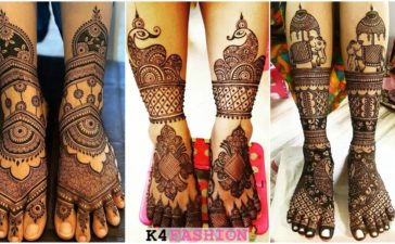 Bridal Feet Mehndi Design For Groom & Bride