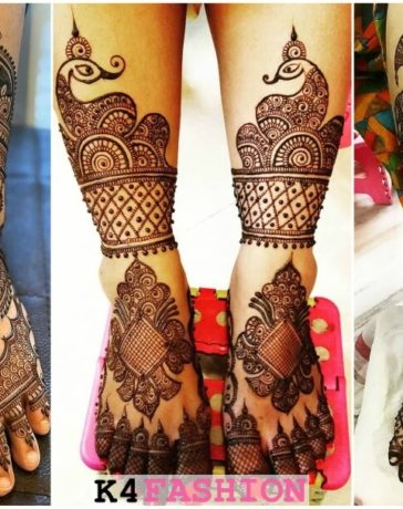 Bridal Feet Mehndi Design For Groom & Bride