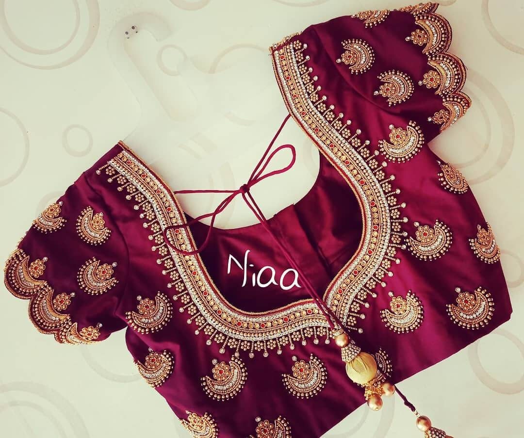 Bridal Maggam Work Blouse With A Royal Look