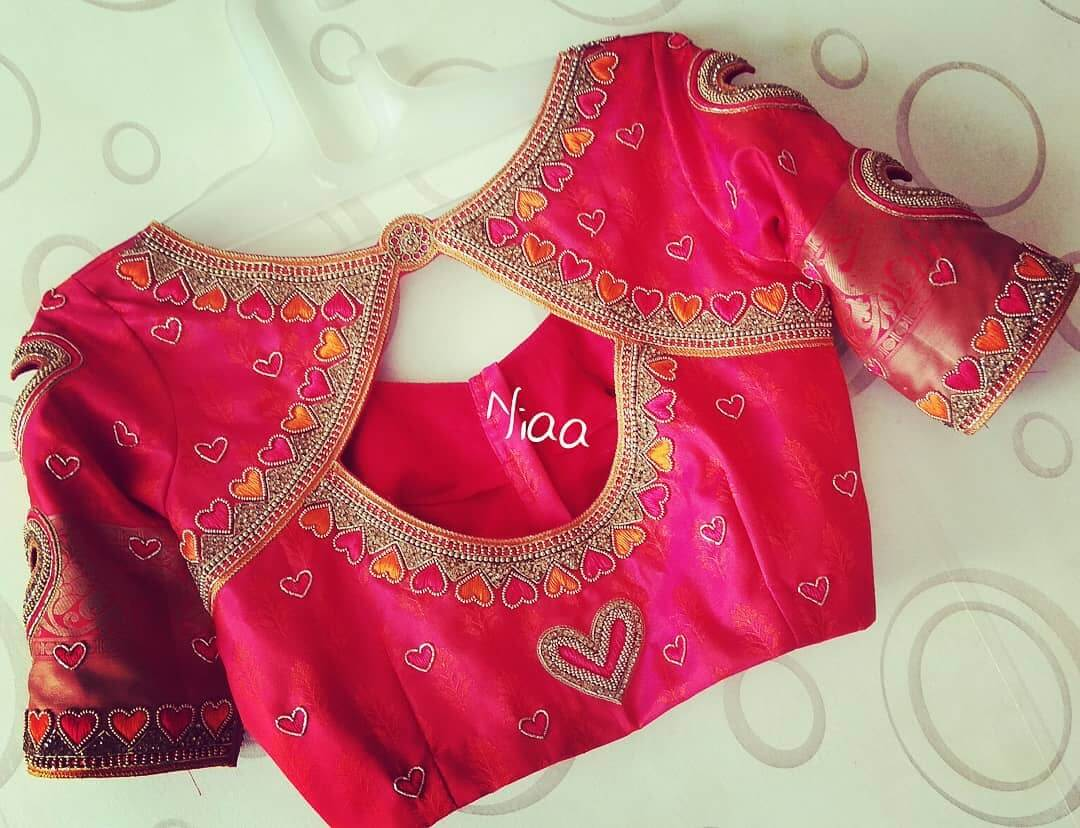 Bridal Maggam Work Blouse Designs For Sarees K4 Fashion