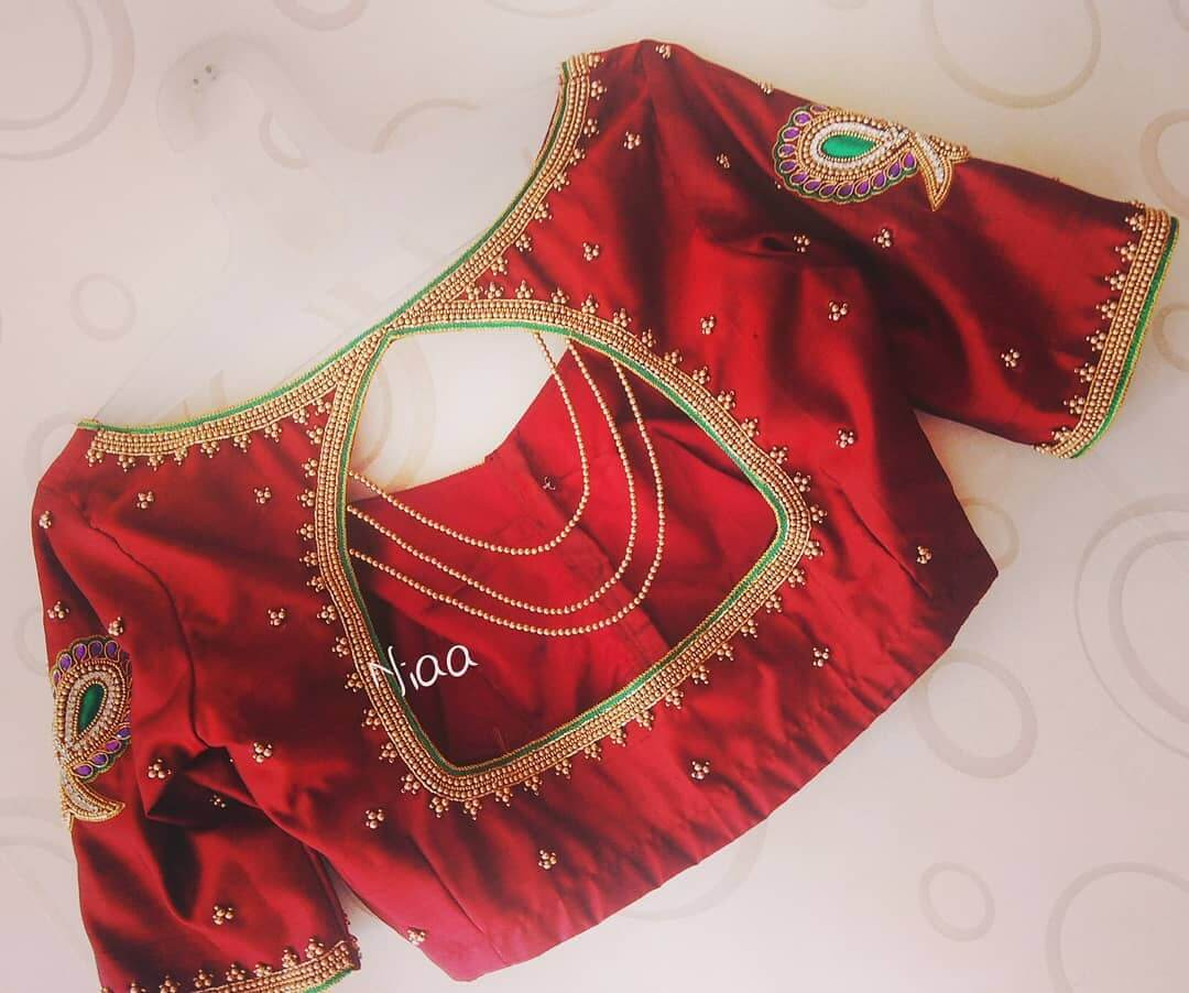 Bridal Maggam Work Blouse Royal Queen Look