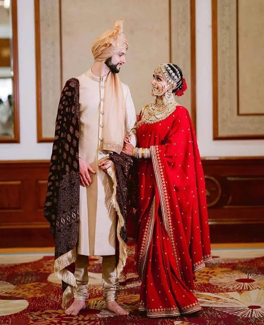 Traditional Couple Dress for Wedding
