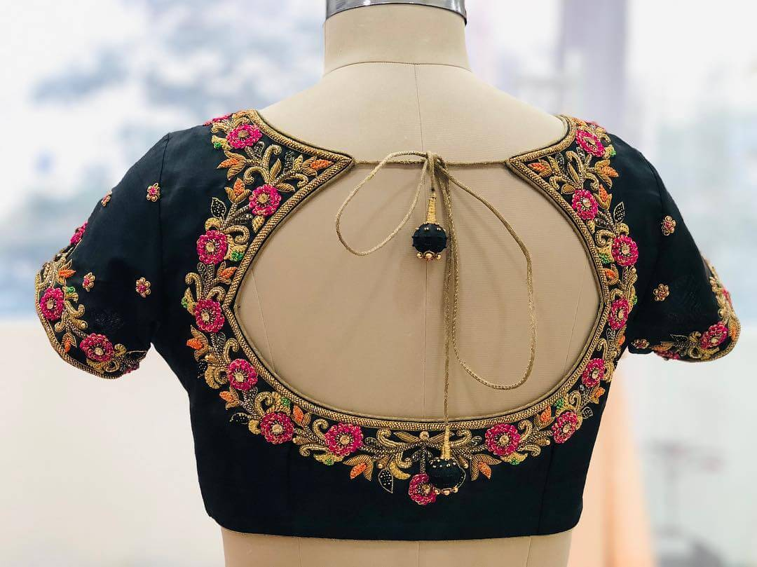 Bewitching Black Blouse For South Indian Brides