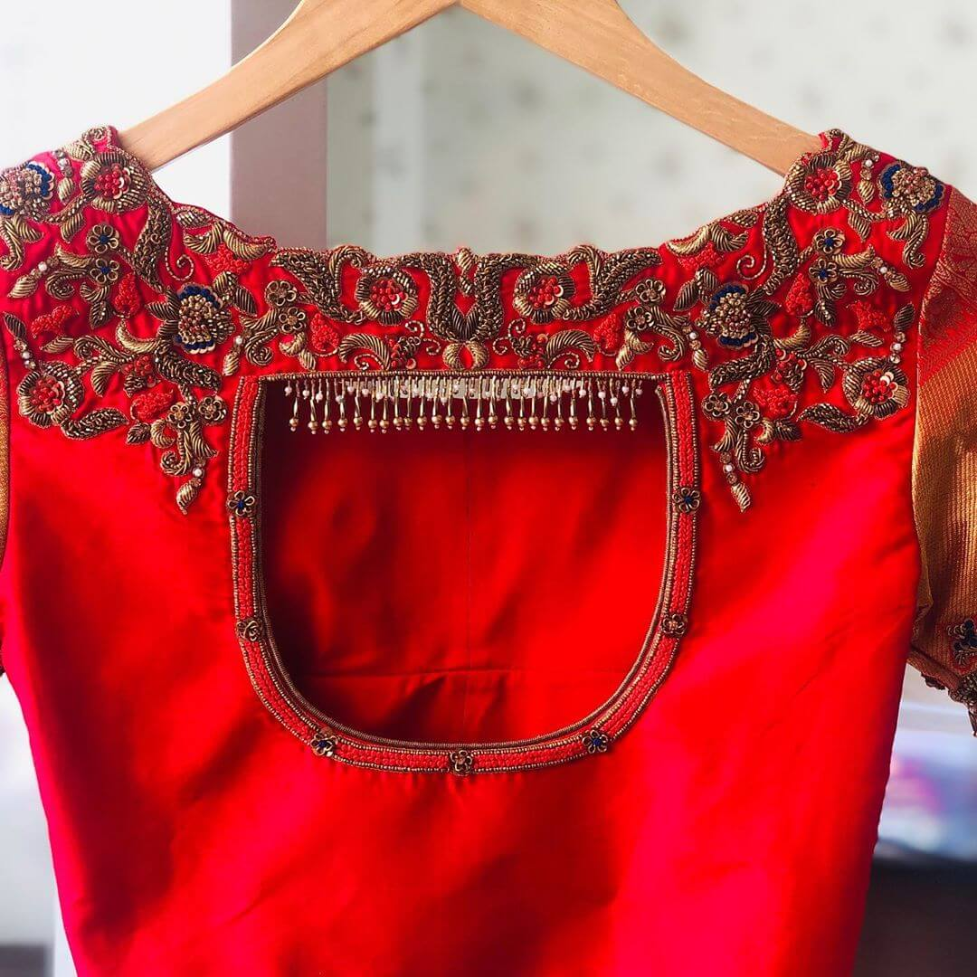 Radiant Red Blouse For South Indian Brides