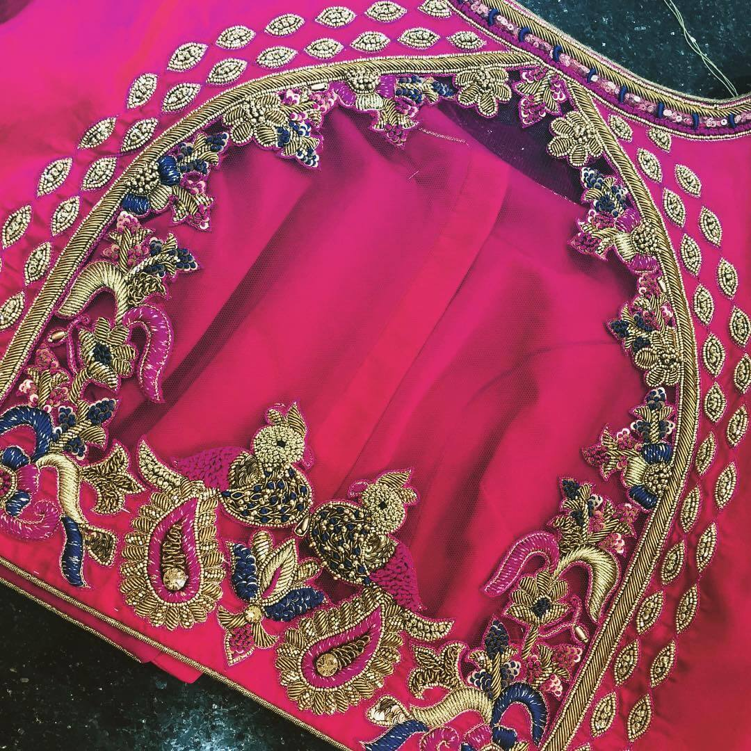 Majestic Magenta Blouse For South Indian Brides: