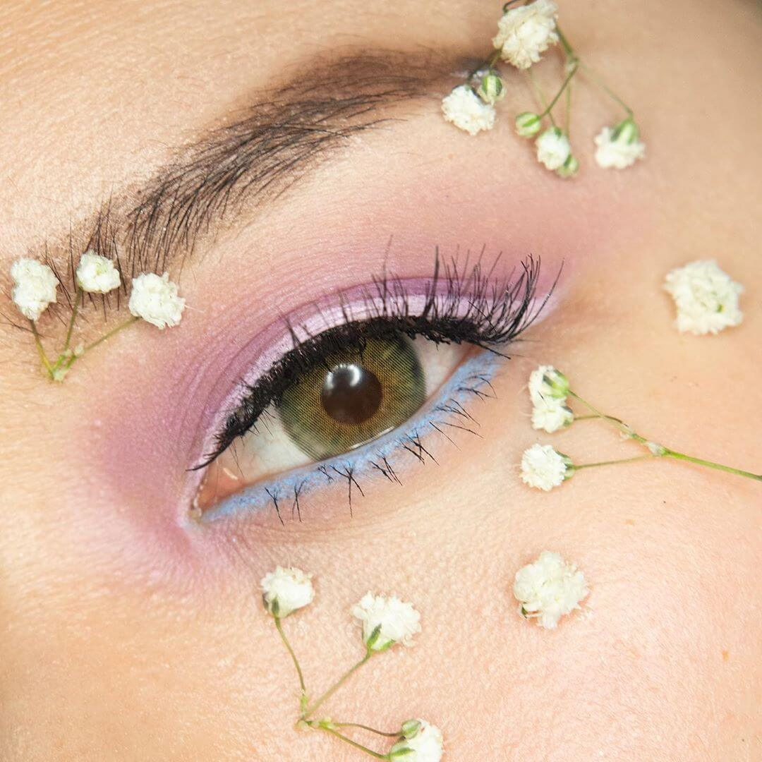 Pastel colors for spring eye makeup