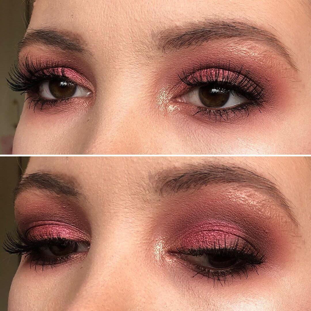 Plum smokey eye makeup