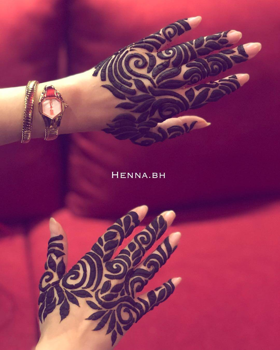 Jewelled Khafif Mehndi Design For Fingers