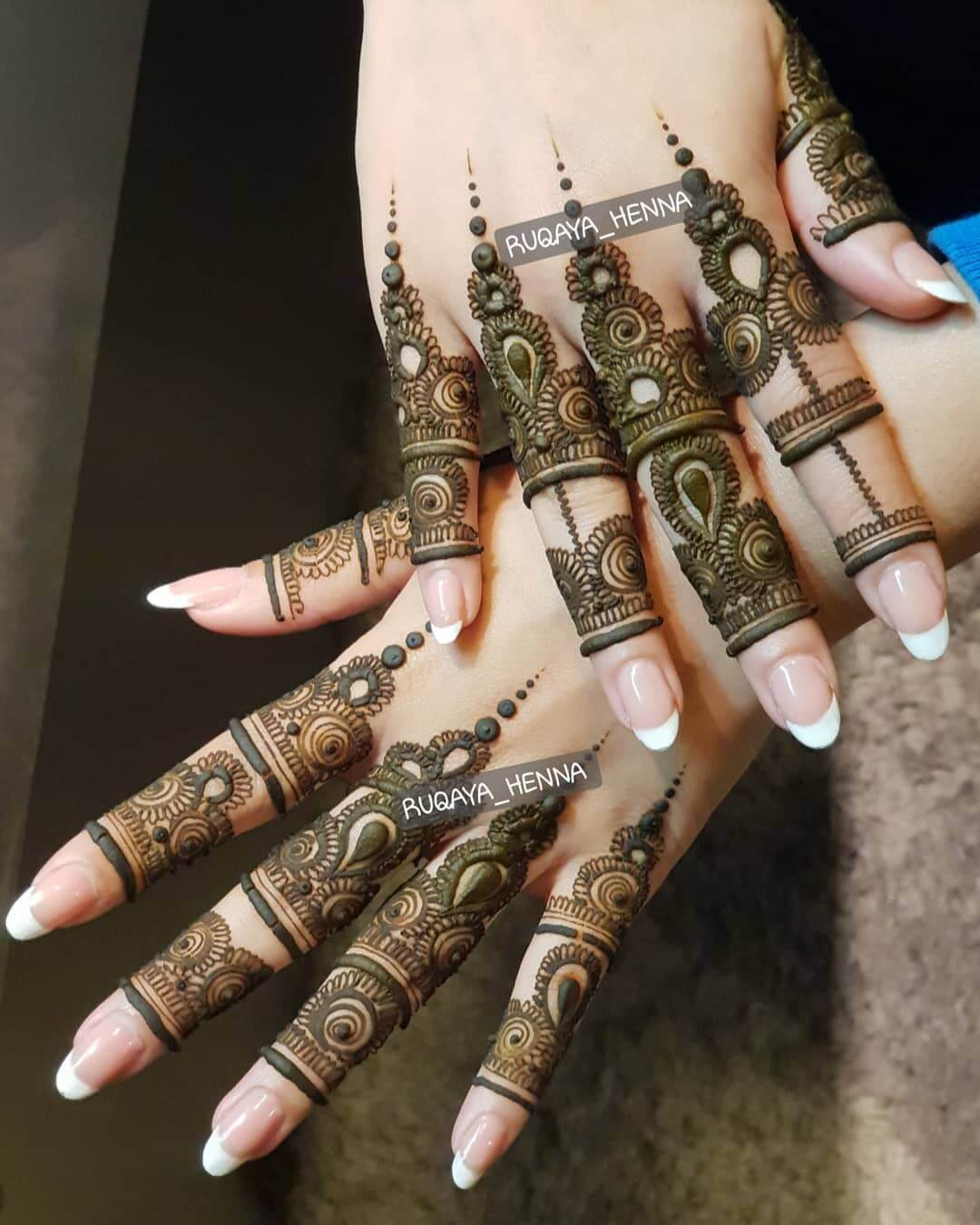 Khafif Stunning Mehndi Designs For Fingers