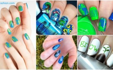 Earth Day Nail Art Designs We Love to help us Go Green