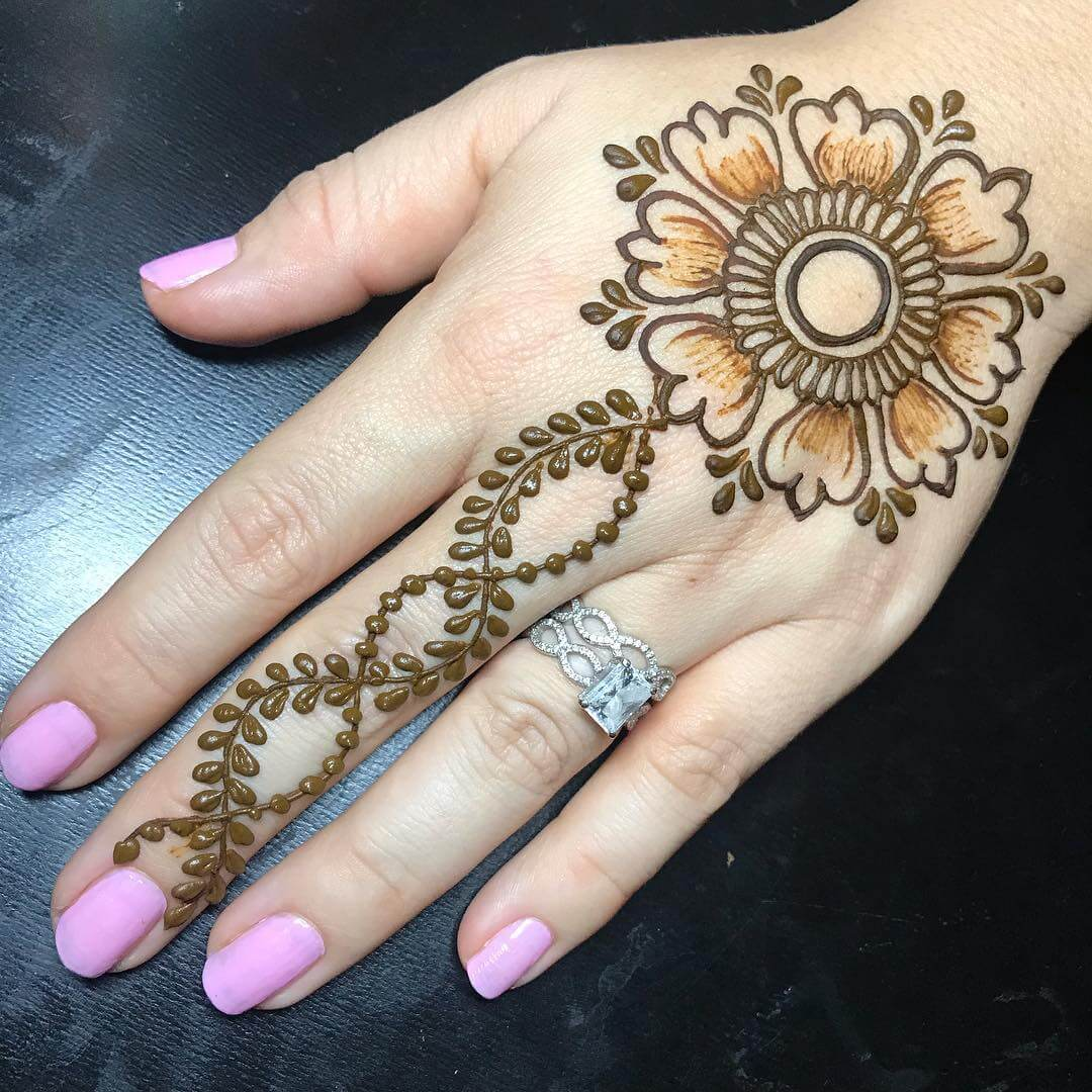 One Finger Instant Mehndi Design