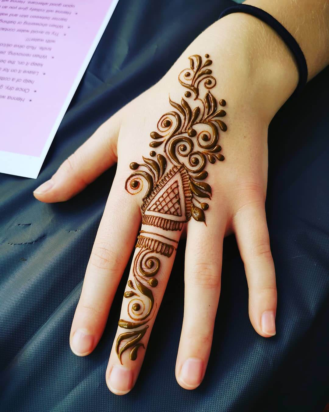 One Finger Alpana Mehndi Design