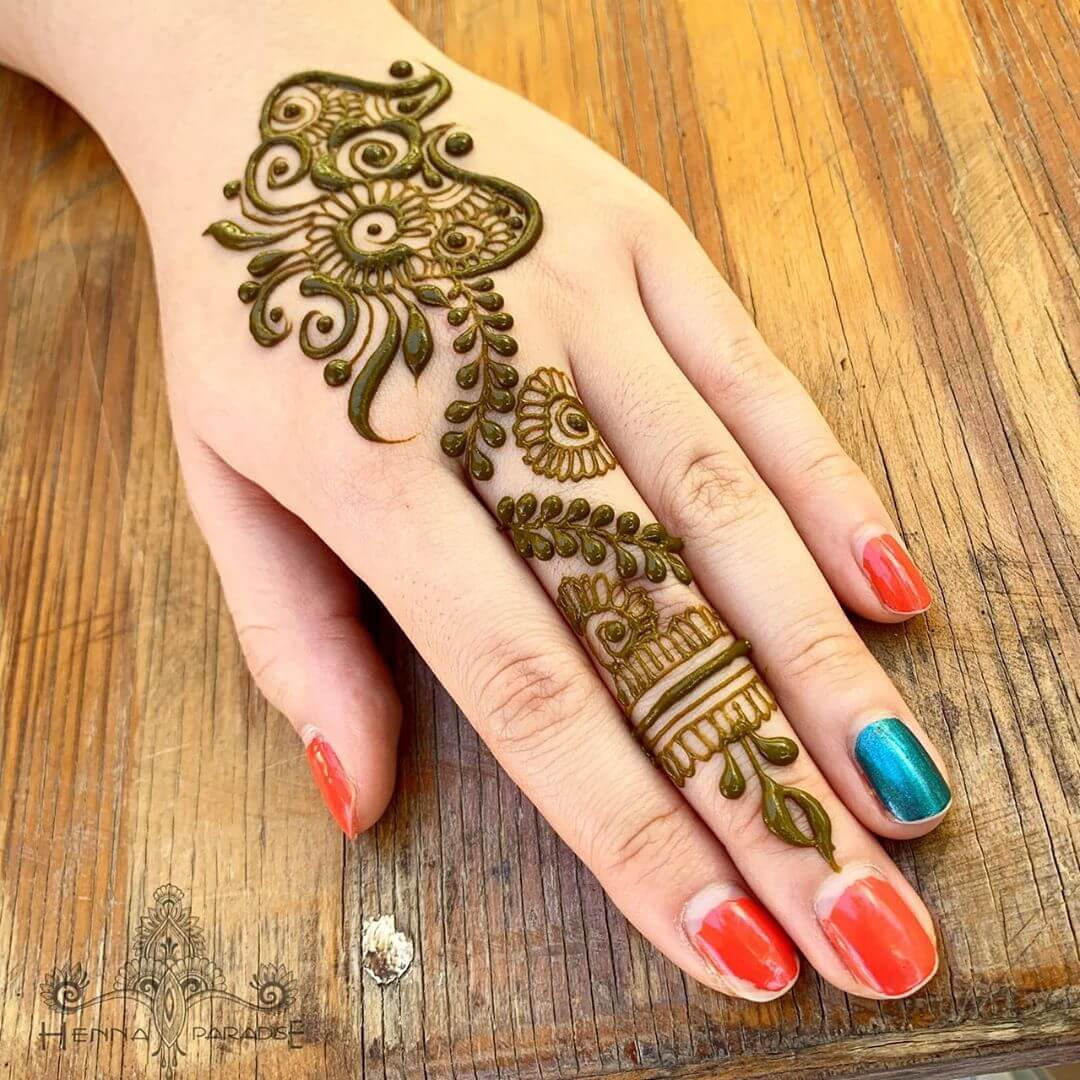 One Finger Mix And Match Mehndi Design