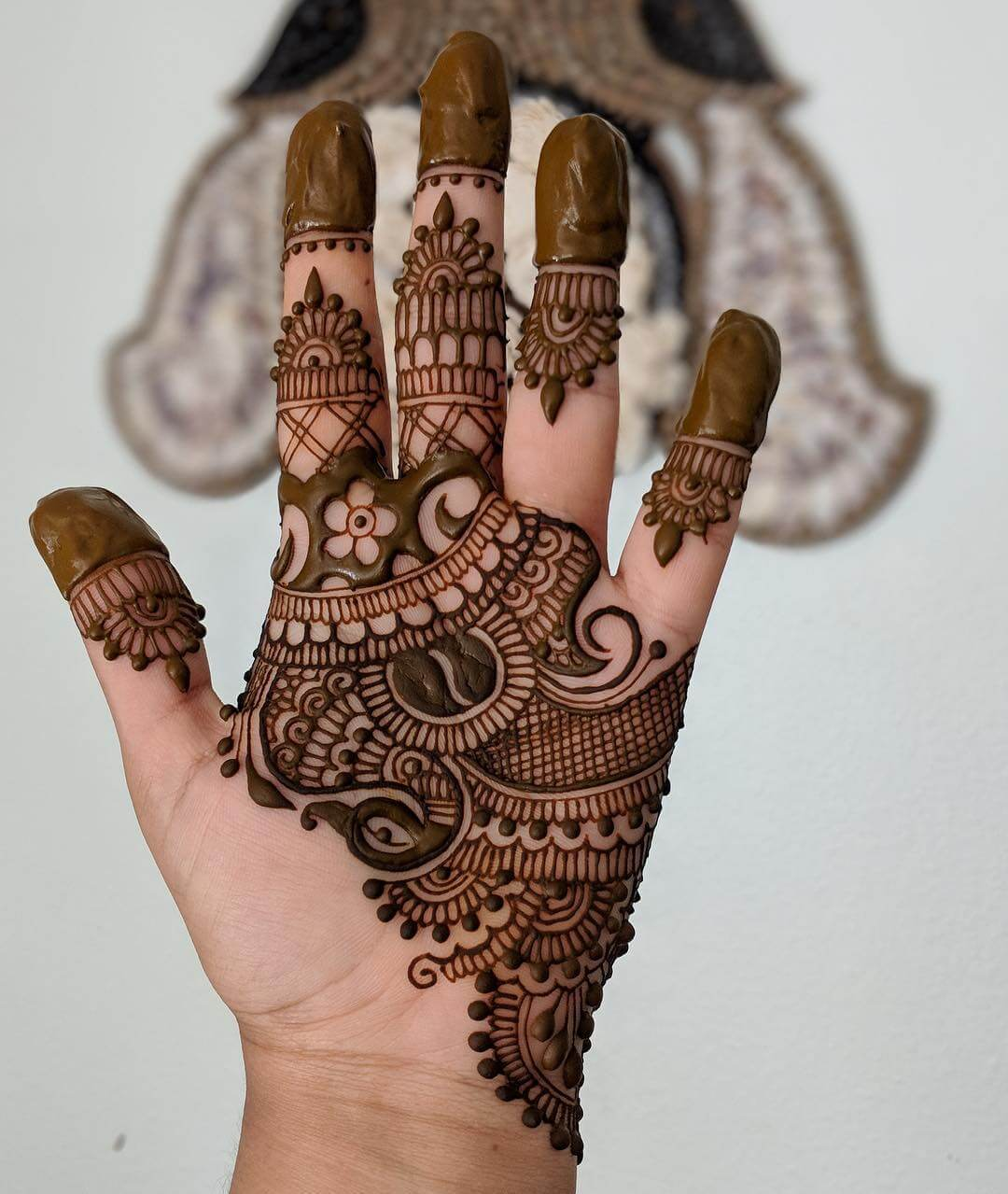 Captivating Peacock Mehndi Design For Palm