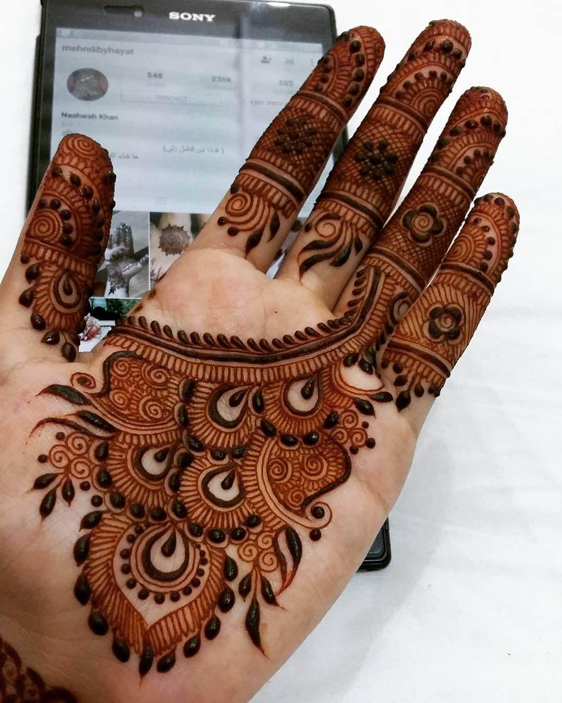 Stunning Peacock Mehndi Design For Palms