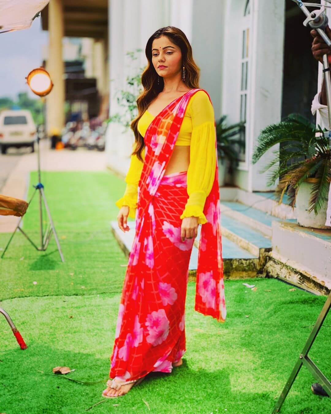Balloon Sleeves With Frilled Cuffs Saree Blouse Designs by Rubina Dilaik